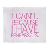 Rehearsals (pink) Throw Blanket