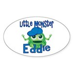 Little Monster Eddie Sticker (Oval)