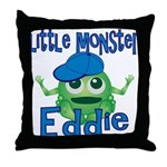 Little Monster Eddie Throw Pillow