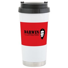 Red Darwin. Viva! Ceramic Travel Mug