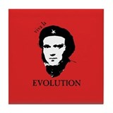 Red Darwin. Viva! Tile Coaster