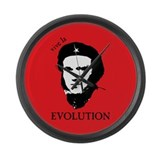 Red Darwin. Viva! Large Wall Clock