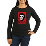 Red Darwin. Viva! Women's Long Sleeve Dark T-Shirt