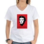 Red Darwin. Viva! Women's V-Neck T-Shirt