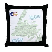 Newfoundland Towns Throw Pillow