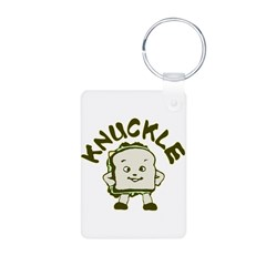 Funny Knuckle Sandwich Aluminum Photo Keychain