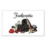 Fashionista Sticker (Rectangle 50 pk)
