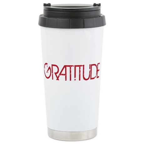 Gratitude Ceramic Travel Mug