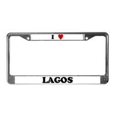 I Love Lagos License Plate Frame