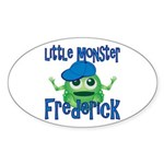 Little Monster Frederick Sticker (Oval)