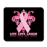 Everyday Pink Ribbon Mousepad