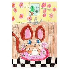 Andrea Kitty Hamster Print