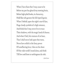 Keats - When I Have Fears...