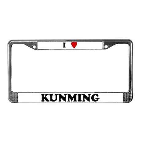I Love Kunming License Plate Frame