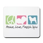 Peace, Love, Finnish Spitz Mousepad