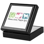 Peace, Love, Finnish Spitz Keepsake Box
