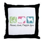 Peace, Love, Finnish Spitz Throw Pillow
