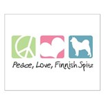 Peace, Love, Finnish Spitz Small Poster