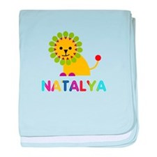 Natalya the Lion baby blanket