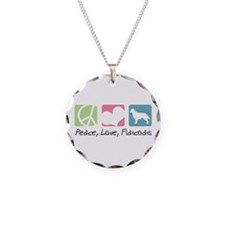 Peace, Love, Flatcoats Necklace