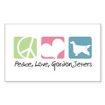 Peace, Love, Gordon Setters Sticker (Rectangle 50
