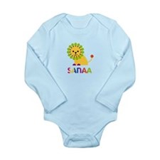 Sanaa the Lion Long Sleeve Infant Bodysuit