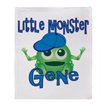 Little Monster Gene Throw Blanket