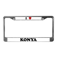 I Love Konya License Plate Frame