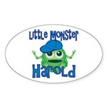 Little Monster Harold Sticker (Oval)