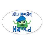 Little Monster Harold Sticker (Oval)