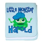 Little Monster Harold baby blanket