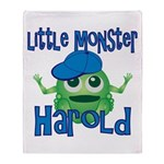 Little Monster Harold Throw Blanket