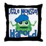 Little Monster Harold Throw Pillow