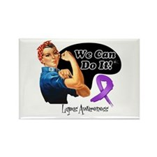 Lupus We Can Do It Rectangle Magnet
