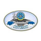 CVN-69 USS Eisenhower 38.5 x 24.5 Oval Wall Peel