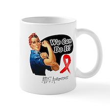 We Can Do It AIDS Awareness Mug
