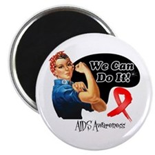 We Can Do It AIDS Awareness Magnet