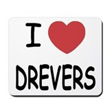 I heart drevers Mousepad