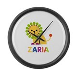 Zaria the Lion Large Wall Clock