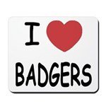 I heart badgers Mousepad