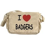 I heart badgers Messenger Bag