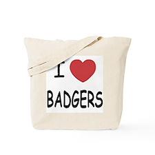 I heart badgers Tote Bag