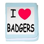 I heart badgers baby blanket
