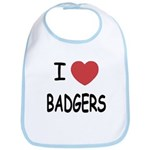 I heart badgers Bib