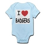 I heart badgers Infant Bodysuit