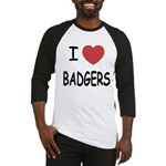 I heart badgers Baseball Jersey