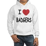 I heart badgers Hooded Sweatshirt