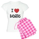 I heart badgers Women's Light Pajamas