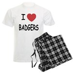 I heart badgers Men's Light Pajamas