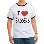 I heart badgers Ringer T